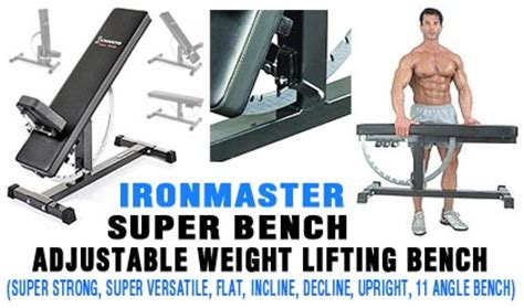 weight lifting bench reviews ironmaster super bench adjustable weight lifting bench best exercise fitness