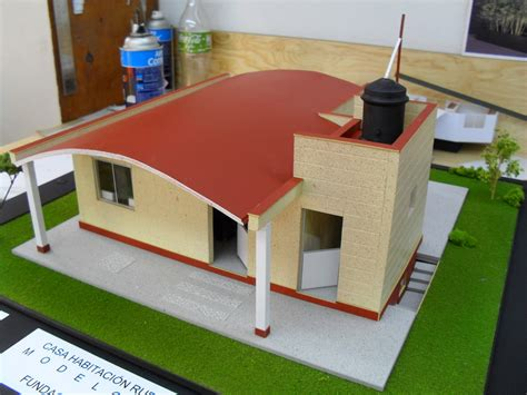 como hacer maquetas de casas maqueta de casa ecologica