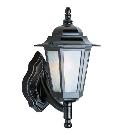 Transglobe Lighting by Transglobe Lighting 4055bk Outdoor 1 Light Wall Lantern L