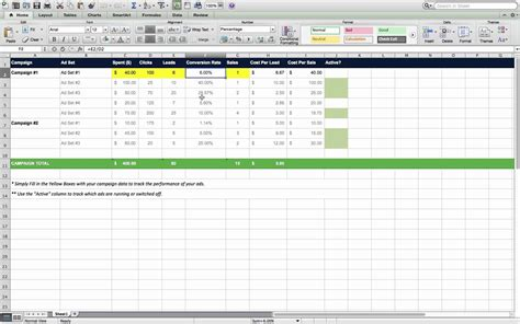 Marketing Excel Templates Marketing Spreadsheet Template Spreadsheet Templates For Business Marketing Spreadsheet Template