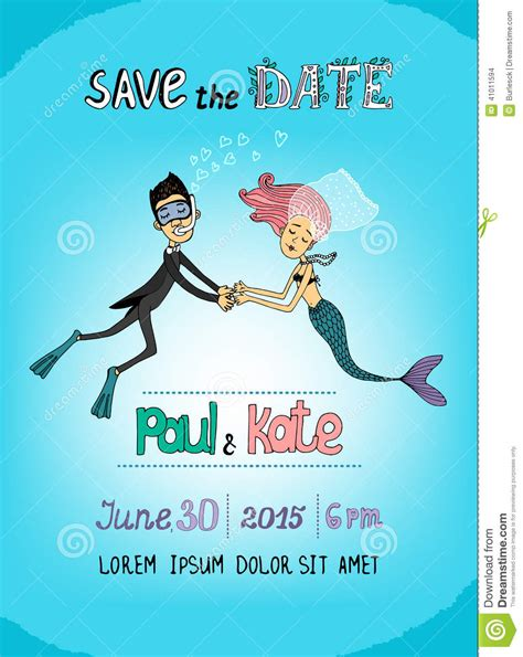 Underwater Wedding Invitations