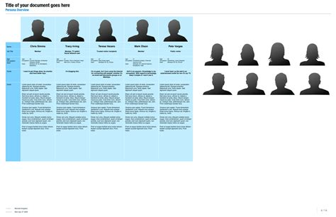 user persona template omnigraffle ux template