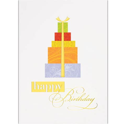 Stack Of Gift Cards - birthday gift stack greeting card usimprints