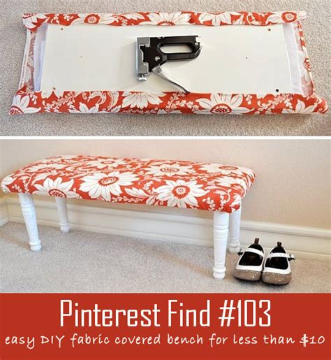 fabric covered bench diy fabric bench for less than 10
