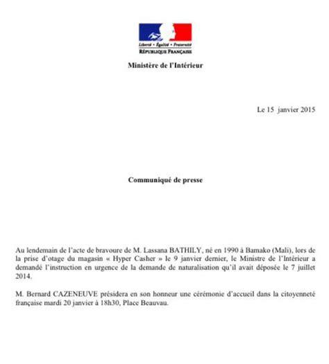 Modèle De Lettre Demande De Naturalisation Demande De Naturalisation De Lassana Bathily Jpg