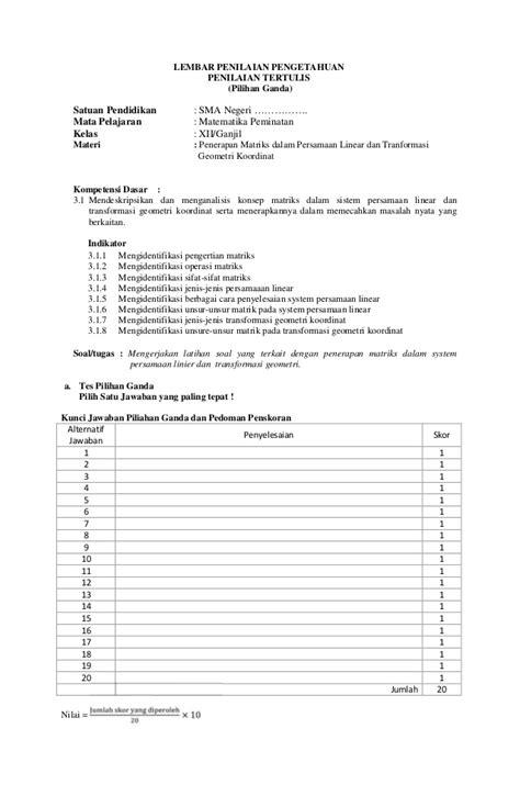 Konsep Penerapan Kimia 1 Smama Kelas X Peminatan Kur 2013 rpp sma matematika peminatan kelas xii