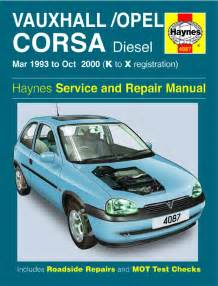 Vauxhall Corsa Owners Manual Vauxhall Opel Corsa Mar 1993 Oct 2000 K To X Reg