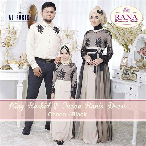 Rania Coklat rania rashid choco b baju muslim gamis modern