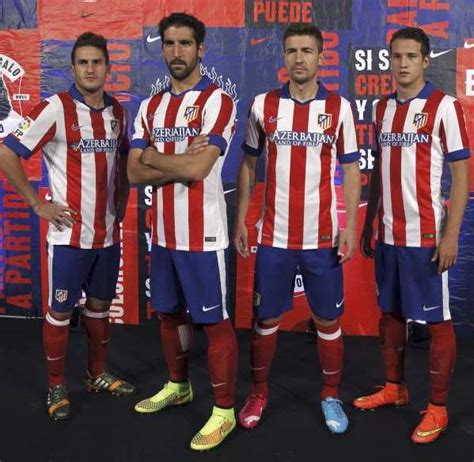 new atletico madrid 14 15 kit nike atleti home jersey