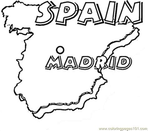 coloring page map of spain coloring pages spanish map countries gt spain free
