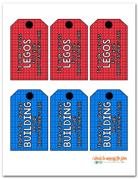 printable lego gift tags i should be mopping the floor free printable father s day