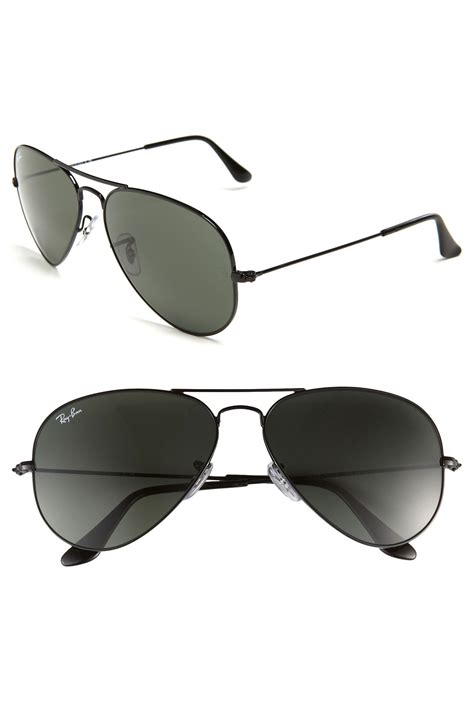 Sunglass Rayban Aviator Black Original Size 58 ban original aviator 58mm sunglasses in black for