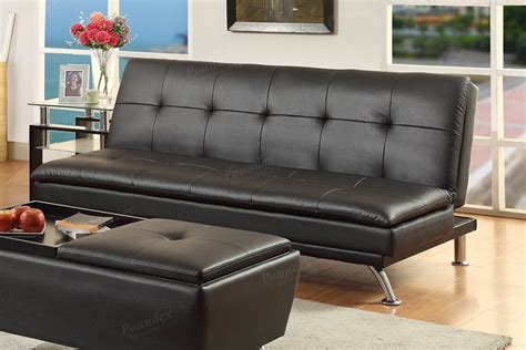 Black Futon Sofa Bed Black Faux Leather Futon Sofa Bed