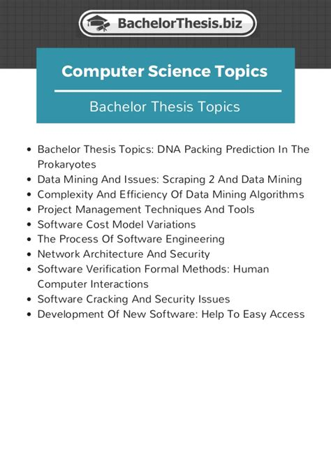 computing dissertation ideas thesis computer science topics 28 images thesis title