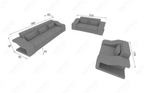 schlafsofa mit beleuchtung interesting sofa l form