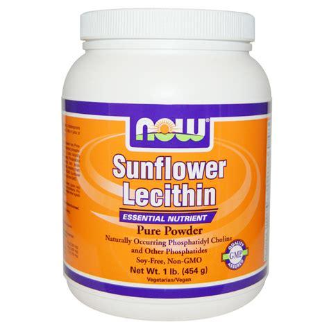 1 Powder Powder now foods sunflower lecithin powder 1 lb 454 g