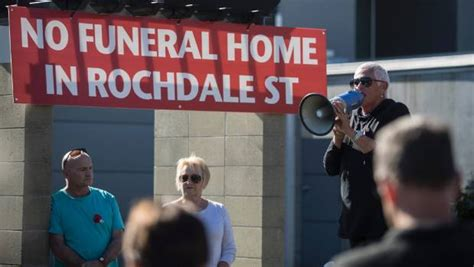 Speaks Funeral Home by Fendalton Residents Protest Proposed Funeral Home Stuff