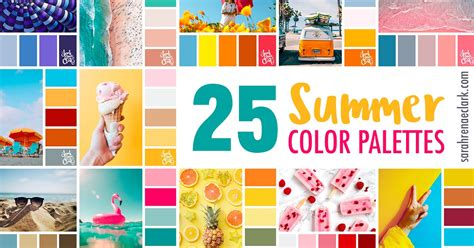summer colors 25 summer color palettes inspiring color schemes by
