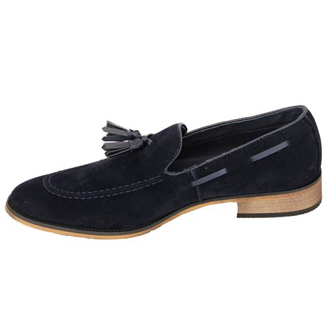 mens moccasins suede look shoes boat slip on italian