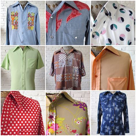 mens 1970s shirts by the pound bulk vintage clothing