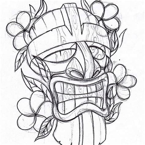 tiki man tattoo designs tiki images designs