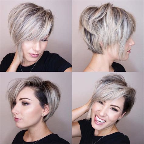 cross between a bob and pixie haircut 10 chic shaved haircuts for short hair women short