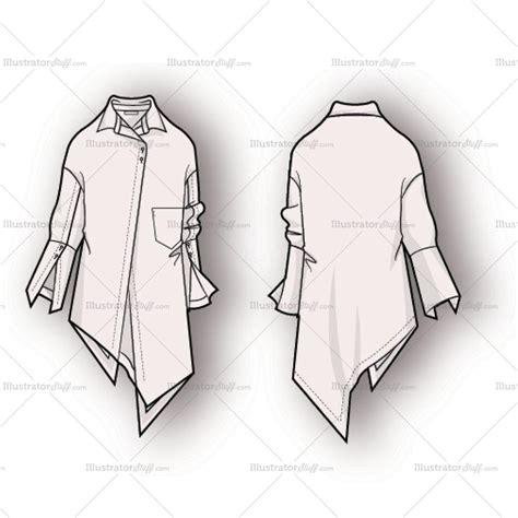 fashion illustration flat drawing s asymmetrical hem blouse fashion flat template illustrator stuff