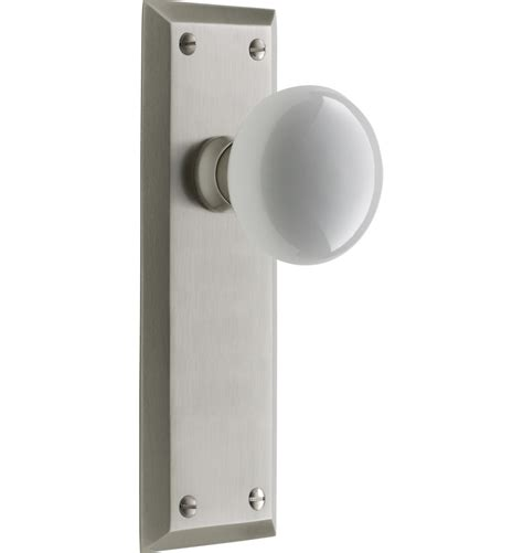 Interior Door Knob Sets by Putman White Porcelain Knob Interior Door Set Rejuvenation