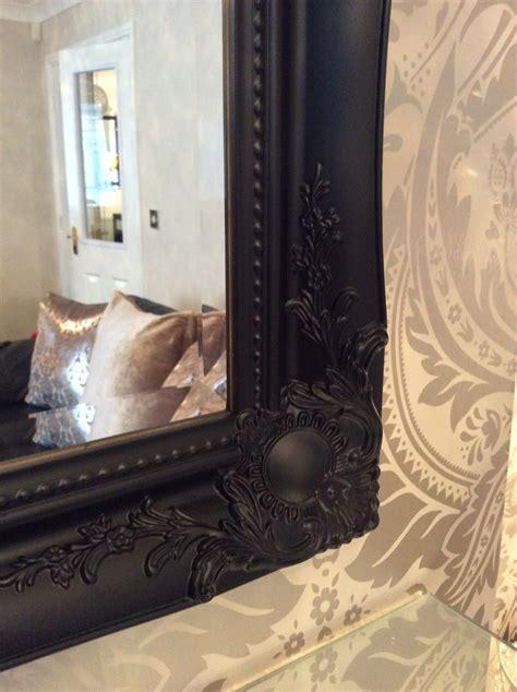 large black shabby chic framed ornate overmantle wall mirror range of sizes