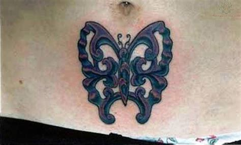 butterfly tattoo around belly button belly button tattoo images designs