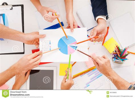Showing Desk Login by Discussion Stock Photo Image 46109963