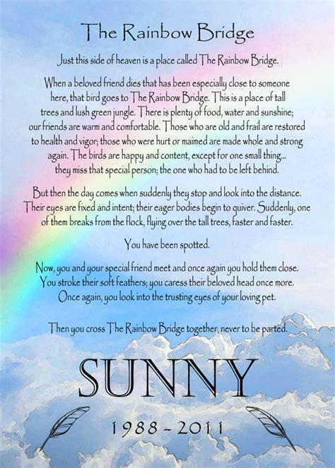 printable version of the rainbow bridge poem rainbow bridge poem to print bing images