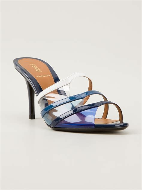 fendi sandals fendi iridia sandals in blue lyst