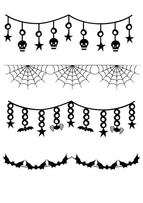 imagenes en blanco y negro de halloween bordes de halloween para imprimir