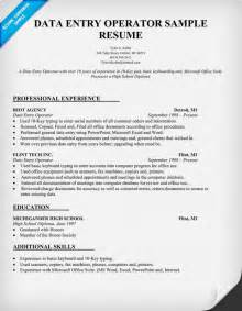 Data Entry Jobs Resume Format by Sample Resume Of Data Entry Operator
