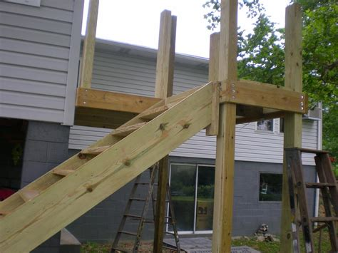 deck stairs construction home design by larizza
