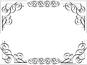 Black And White Border Cards Template by Free Printable And Editable Certificate Border Instant
