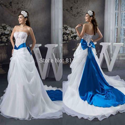 wedding dresses royal blue and white bwd2047 royal blue and white wedding dresses in wedding