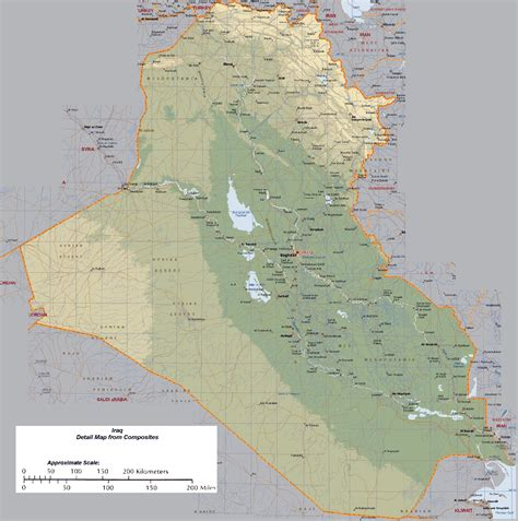 map of iraq maps of iraq detailed map of iraq in tourist