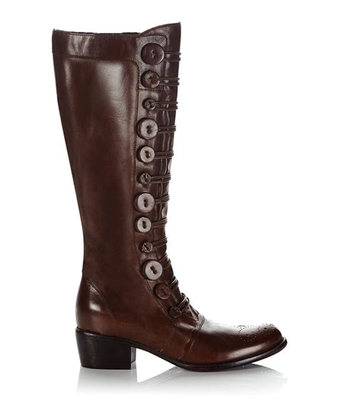 tyes brown leather boots sale dune sale