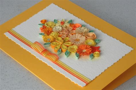 Handmade Greeting Cards Paper Quilling - quilled handmade card paper quilling flowers for any