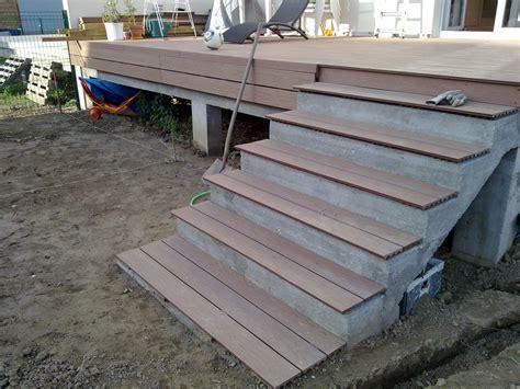 Habillage Escalier Beton Exterieur 3761 by Amenagement Exterieur La Construction De Notre Maison
