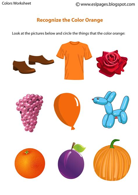 Preschool Kitchen Furniture by Esl Pages Colors Worksheets