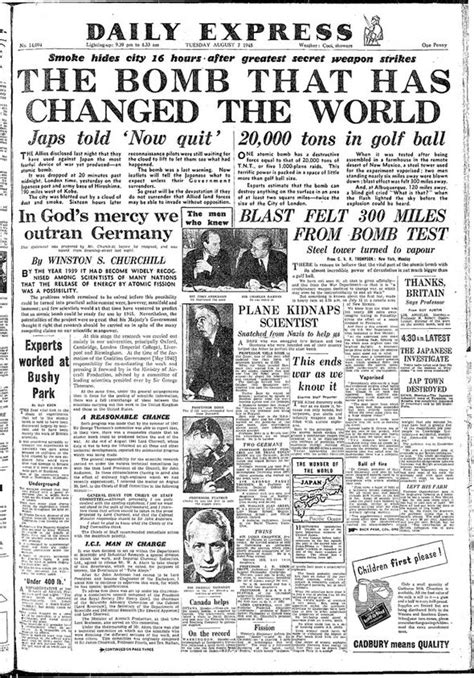 the bombing of hiroshima how the daily express reported it