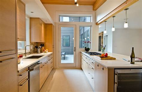 modern galley kitchen design small galley kitchen with dining area designs uk modern