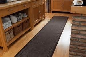 durable slip resistant rubber back brown runner
