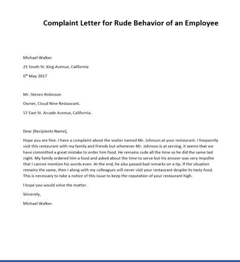 complaint letter sample ipasphoto