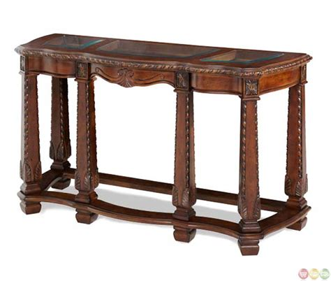 sofa table with drawer michael amini court sofa table with storage drawer