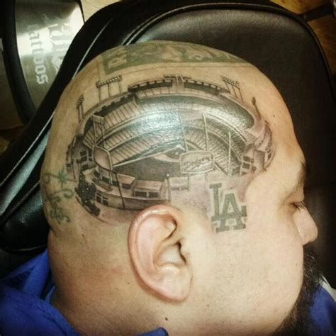 photos fan has dodgers stadium tattooed on his bso