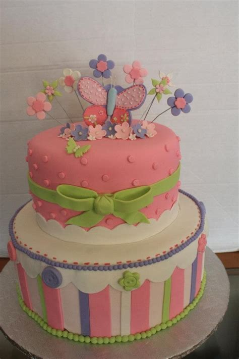 Baby Shower Cakes With Butterflies by Pastel Butterfly Baby Shower Cake Cakecentral